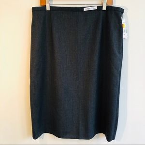 Pendleton Gray Wool Pencil Skirt NWT